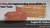 5 Keys for Implementing Accessibility in Your Team