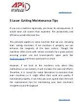 5 laser cutting maintenance tips