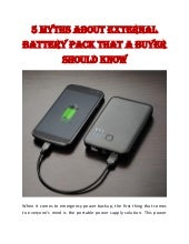 5 Myths about External Battery Pack That a Buyer Should Know