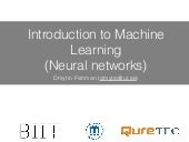 5 Introduction to neural networks