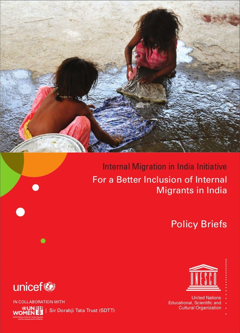 Policy Briefs: For a Better Inclusion of Internal Migrants in India