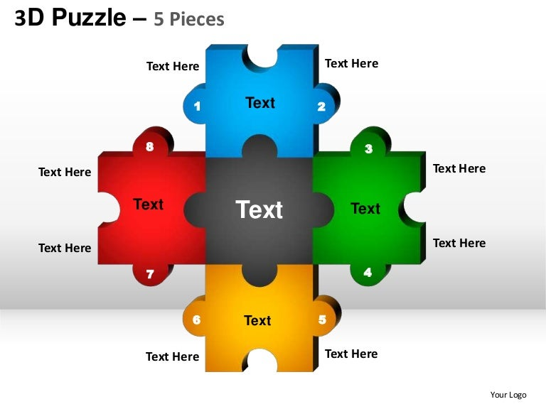 5 puzzle pieces powerpoint presentation templates. Black Bedroom Furniture Sets. Home Design Ideas