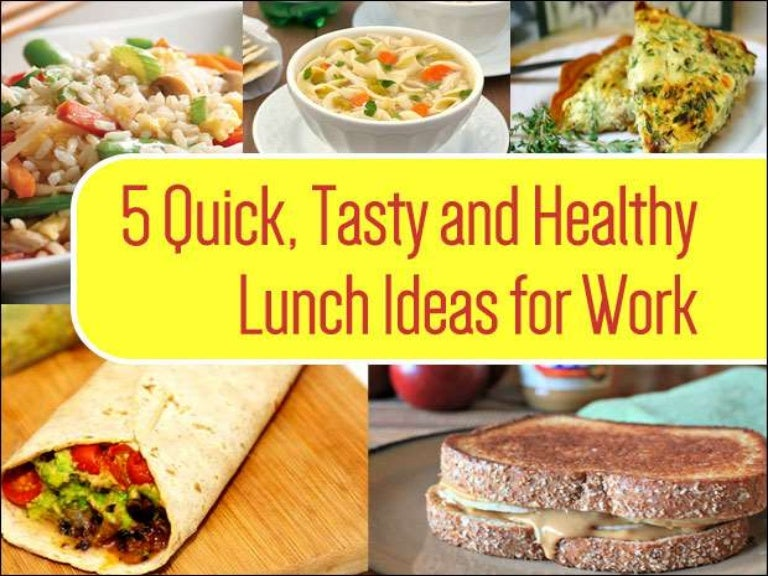 5 healthy lunch ideas for work that are home cooked