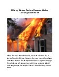 5 Rarely Known Factors Responsible for Causing a Home Fire