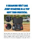 5 Reasons Why Car Jump Starter Is a Top Gift This Festival