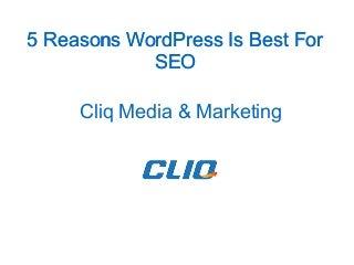 5 Reasons WordPress Is Best For SEO