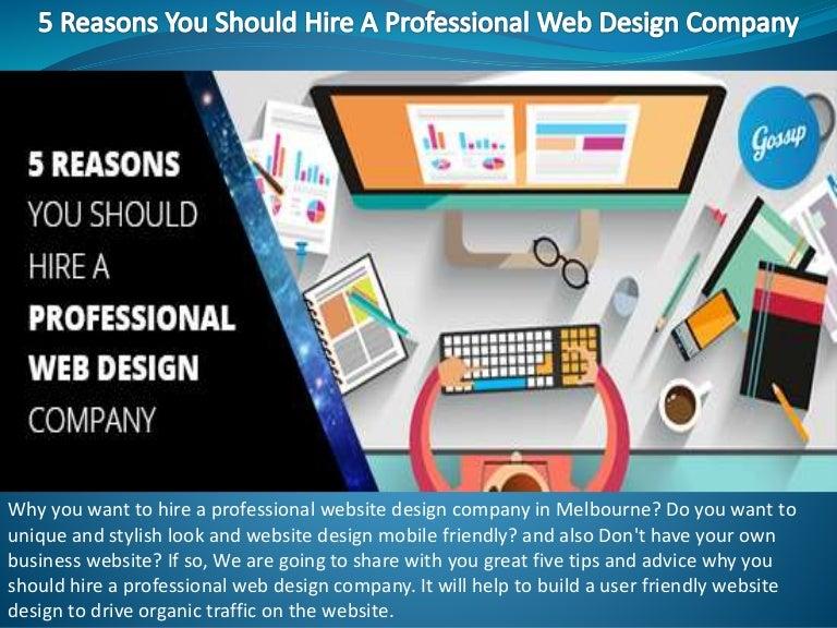 5 Reasons You Should Hire A Professional Web Design Company