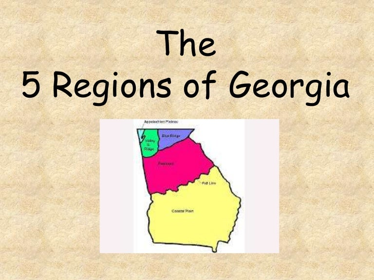 Regions Of Georgia - Georgia map with regions