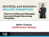 5 rules for selling and managing digital advertising campaigns