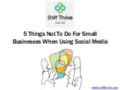 5 rules for small businesses when using social