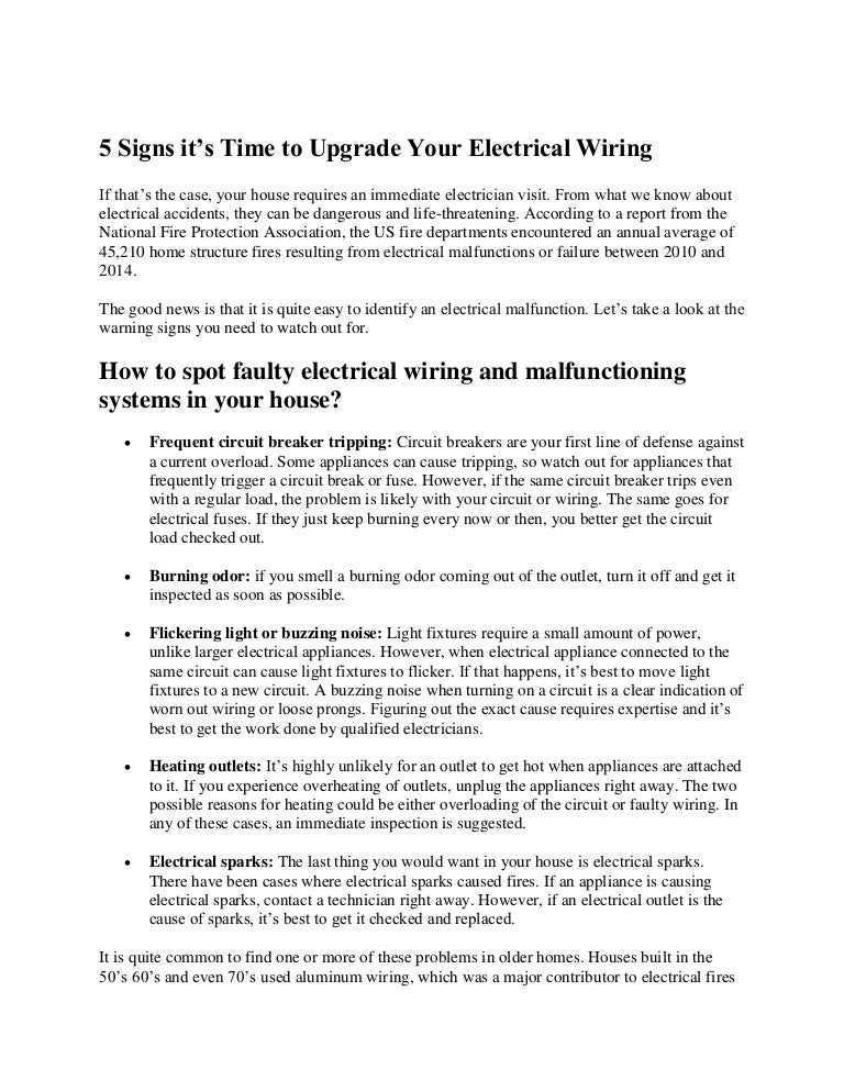 5 signs it's time to upgrade your electrical wiring on