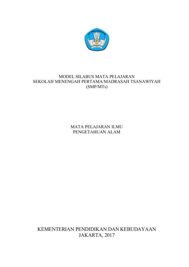 5 Silabus Smp Kelas 7 8 Dan 9 Edisi Revisi 2017 Mata Pelajaran Ipa
