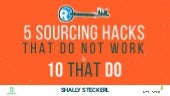 5 sourcing hacks that do not work and 10 that do