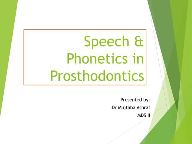speech and phonetics