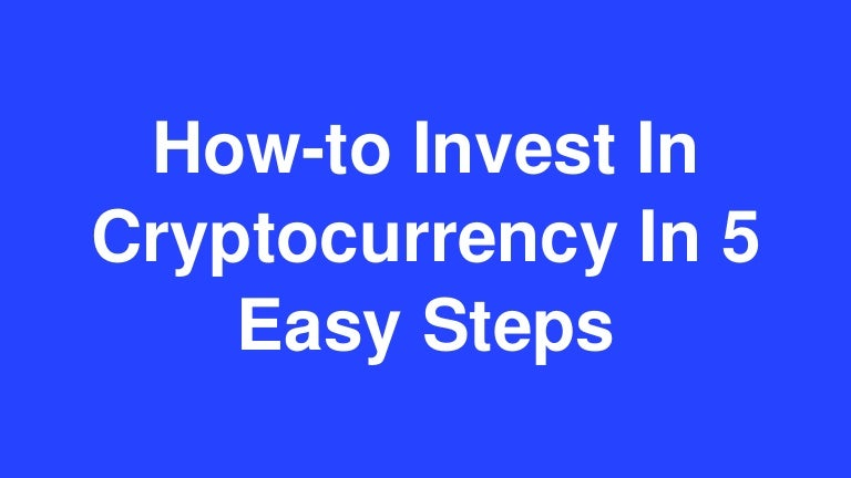 steps to invest in cryptocurrency learn binary options trading