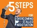 5 Steps For Overcoming Stalled Negotiation | Sales Infographic