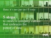 5 Steps to Create a Company Culture that Embraces the Power of Data