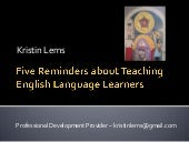 5 Surprises about Teaching English Language Learners