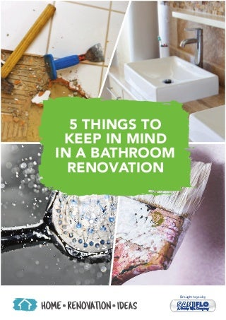 Bathroom Renovation Ideas - Top 5 Things to Keep in Mind
