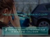 5 Things You Can Do to Prepare For a Rear End Collision