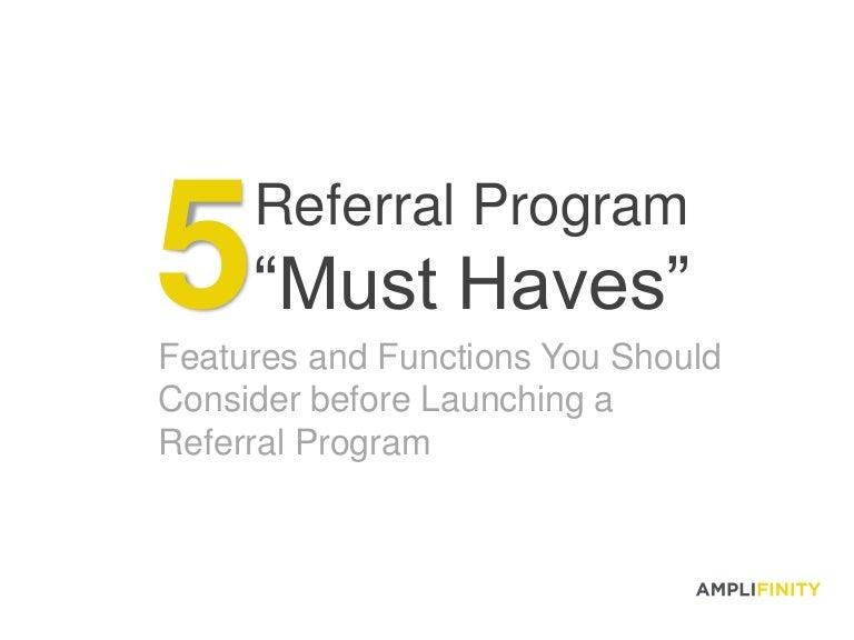 5 Referral Program