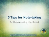 5 tips for note taking for high school homeschool