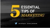 5 Essential Tips of Marketing 2015