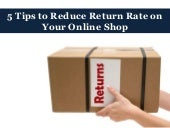 5 Tips to Reduce Return Rate on Your Online Shop