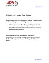 5 Uses of Laser Cut Parts