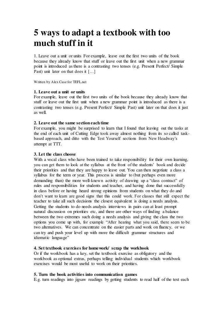 Workbooks cutting edge workbook : 5waystoadaptatextbookwithtoomuchstuffinit-150212070138-conversion-gate02-thumbnail-4.jpg?cb=1423724540