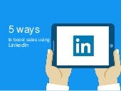 5 ways to boost sales using LinkedIn