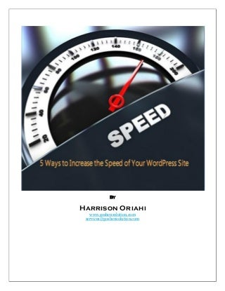 5 ways to increase the speed of your word press site