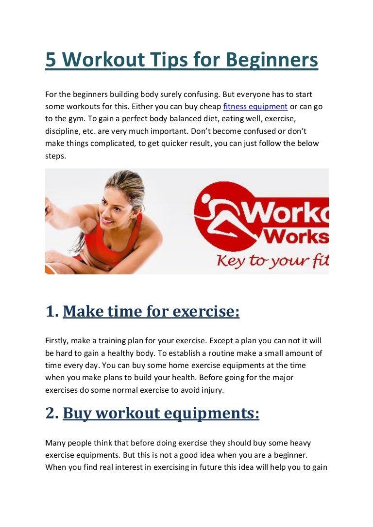 5 Workout Tips For Beginners