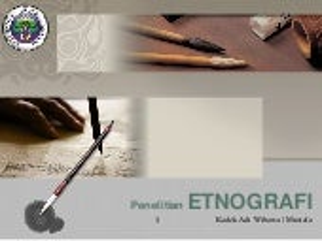 penelitian etnografi (kuliatatif)