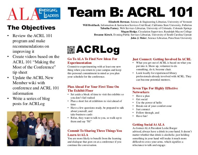 Acrl 101 Enhancing The Annual Conference Experience For 1st Time Acr