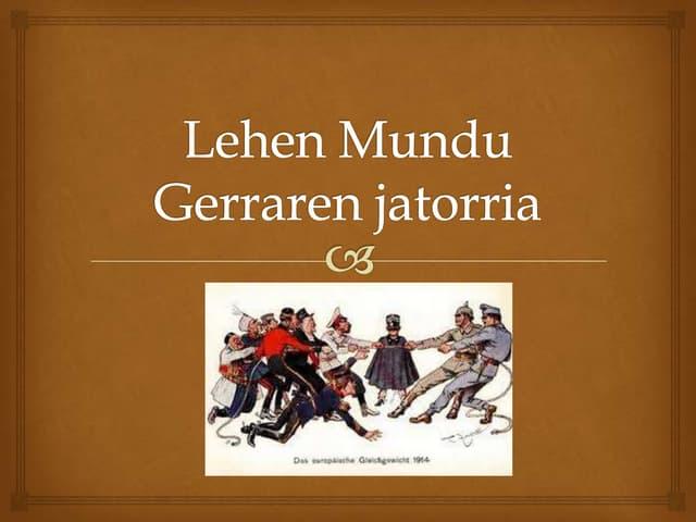 6. gaia. munduko gatazkak (1914 1939). 4 DBH