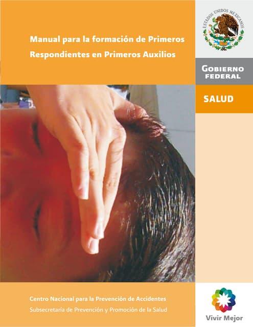 manual para la formacixn de primeros respondientes en primeros auxilios