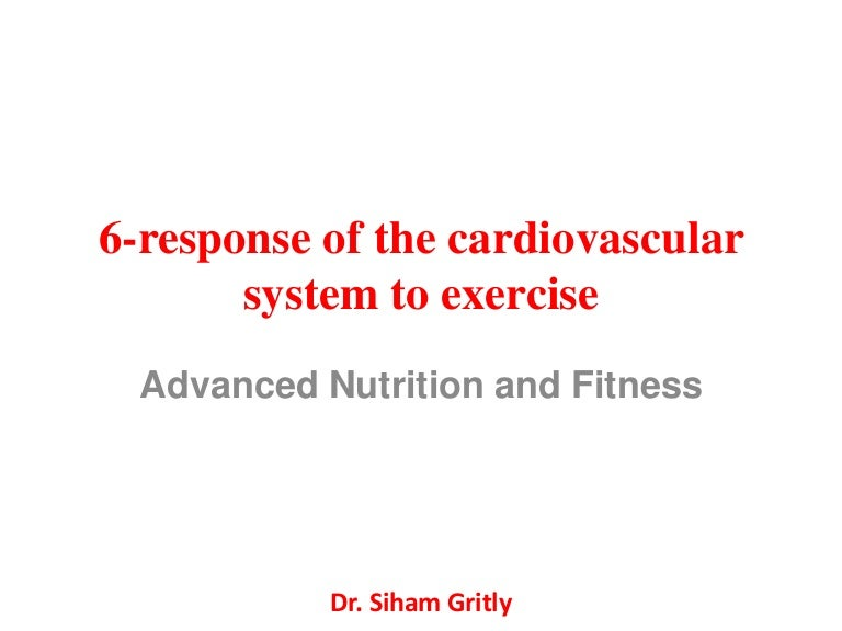 6 response of the cardiovascular system to exercise – Target Heart Rate Worksheet