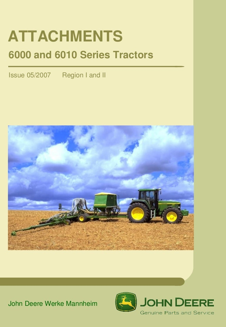 John Deere 6000 6010 Series Tractor Wiring Diagram For 6410