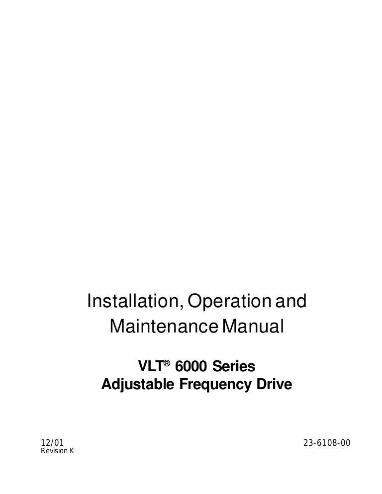 Thông Số Kĩ Thuật Danfoss 6000 Series