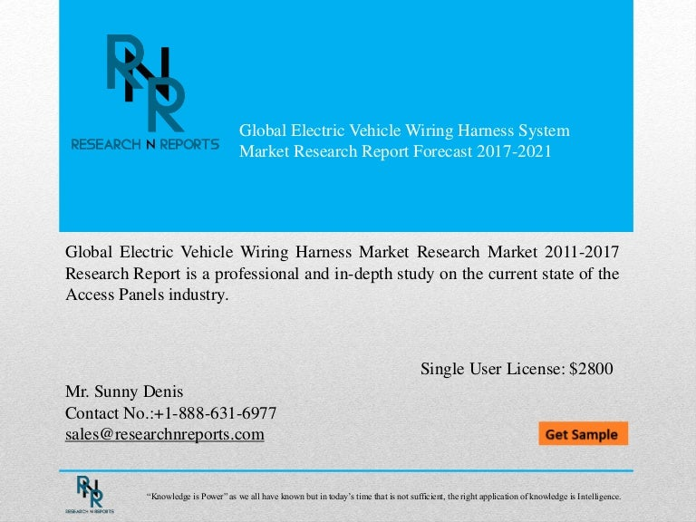 Global Electric Vehicle Wiring Harness System Market Research Report …