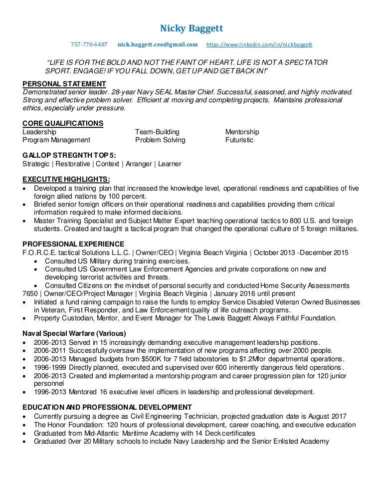 2016 nick baggett resume