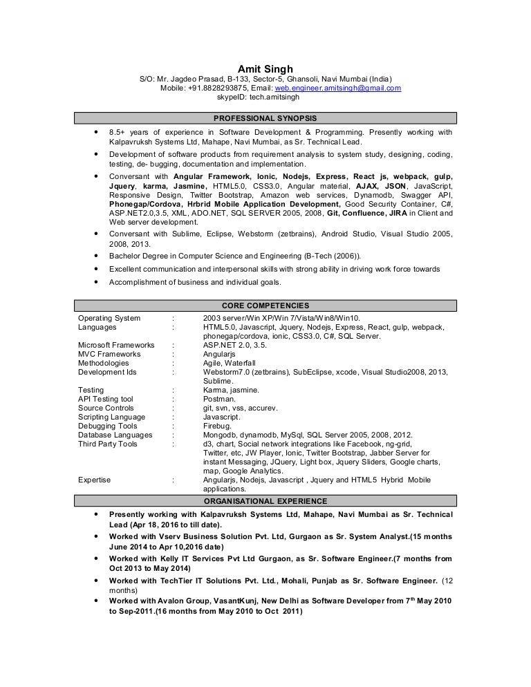 amitsingh updated resume