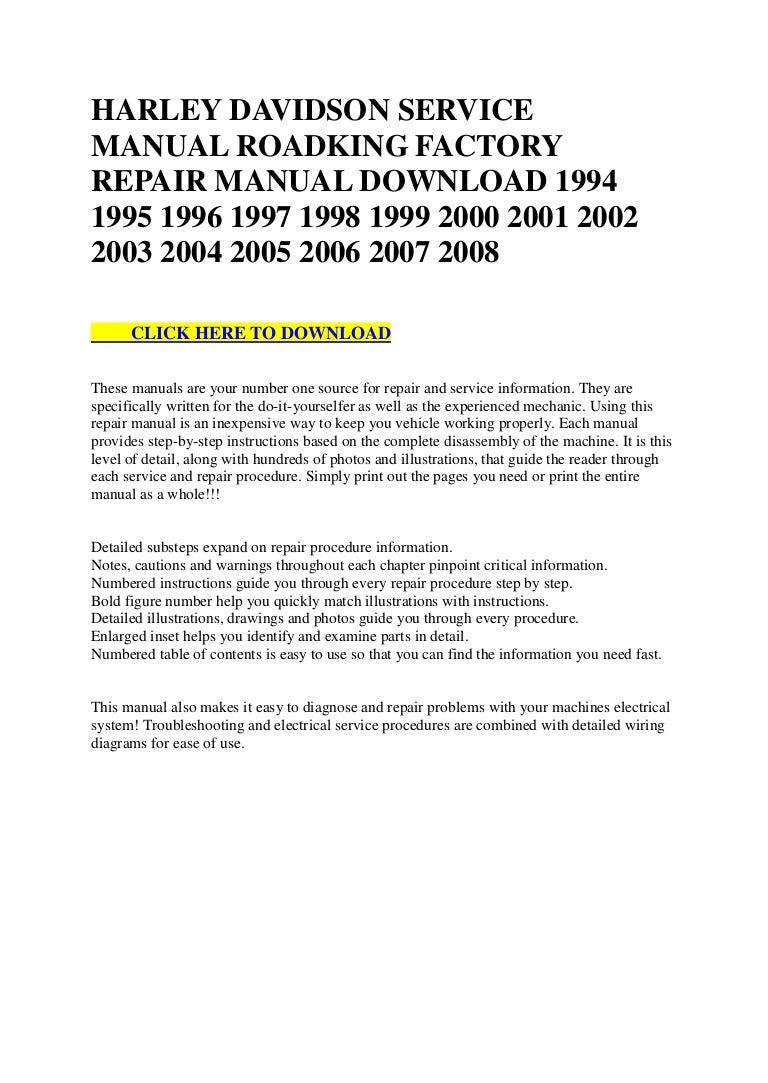 60856 harley davidson service manual roadking factory repair manual d 2000 honda wiring diagram 2000 king of the road wiring diagram #47