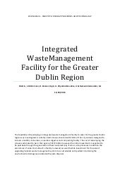 Design of an Integrated Waste Management Facility for the Dublin Region