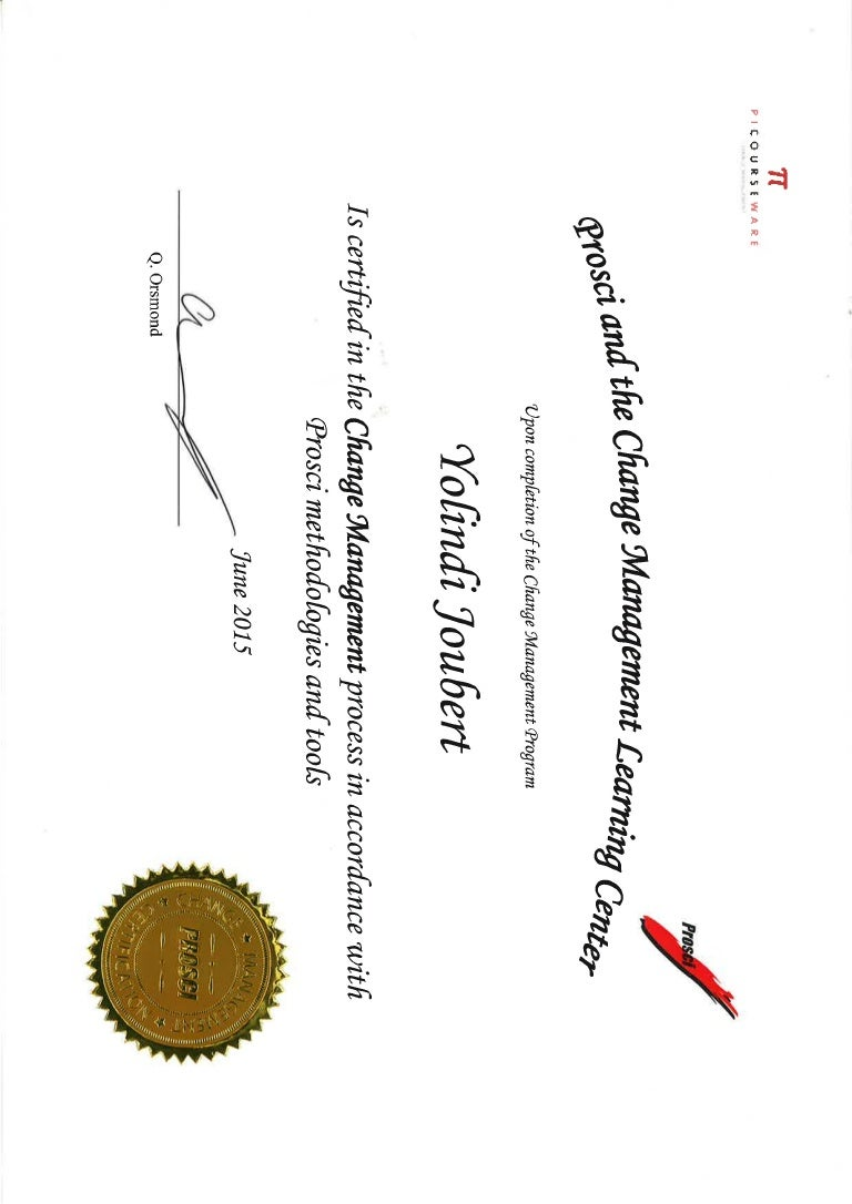 Change management certificate prosci change management certificate 1betcityfo Images