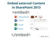 SharePoint Tutorial Lesson 60#: Embed Microsoft Content