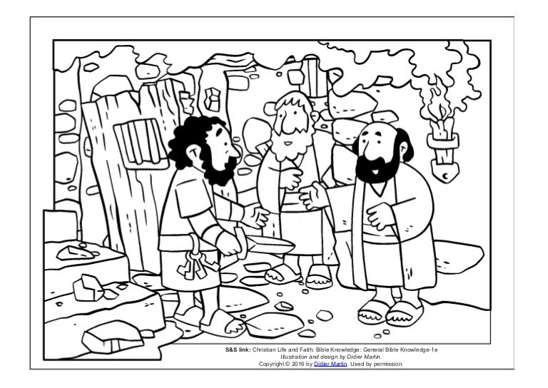 Coloring page- The acts of the apostles: Prison doors and