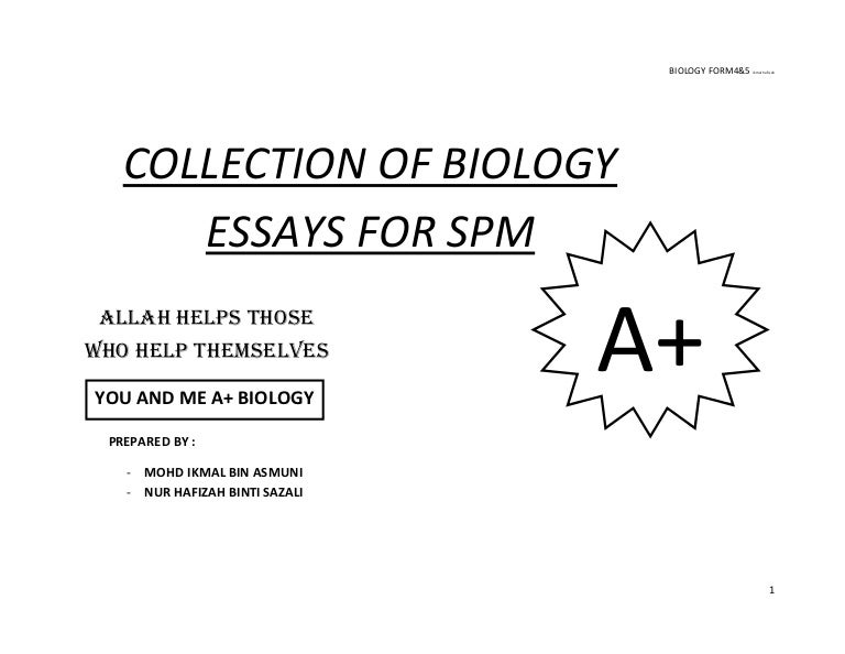 compilation of biology essays updated