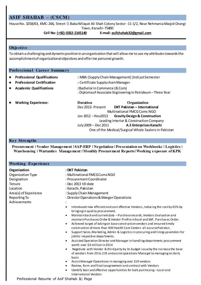 asif shahab cscm resume